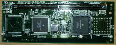 Rev 1.0 card with a 25Mhz 030 overclocked to 32Mhz and a 68882 FPU.This card was discovered in an early prototype A4000.