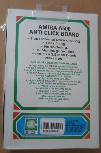 Anti Click Board, Back