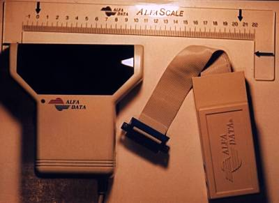 Picture showing the scanner, interface and ruler