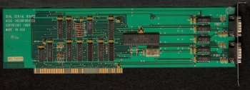 Front of Dual Serial Card