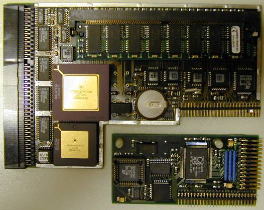 Picture of the card with the optional SCSI controller