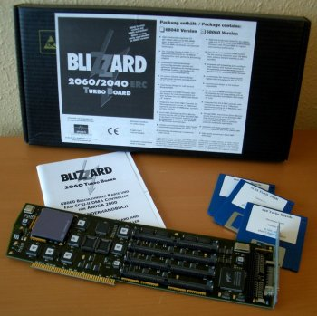 Blizzard 2060 with manual, disks and box