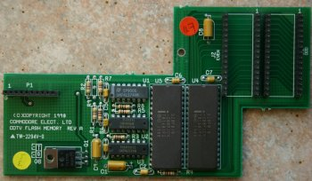 Rev A CDTV Flash Memory Card, Green PCB