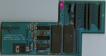 Rev A CDTV Flash Memory Card, Blue PCB