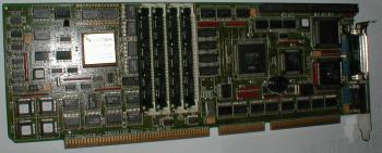 Image show a version of the card with the 387 FPU