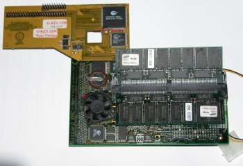 Accelerator adaptor attached to Blizzard PPC