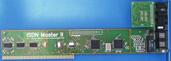 Card with analogue module attached