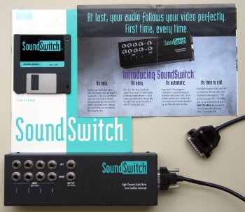 Soundswitch with manual and disk