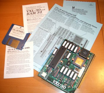 VXL-30 with disk and manuals