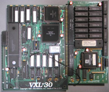VXL-30 attached to VXL RAM 32