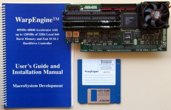 Warpengine with manual and disk